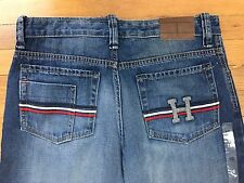 Womens TOMMY HILFIGER Classic Loose Fit Mid-Rise Blue Jeans Denim New NWT Sz 31