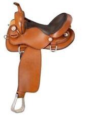 """Western London Tan Barrel Racer Arabian Style Skirt 17"""" Saddle"""