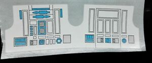 R2D2 REPLACEMENT DECAL A+++ QUALITY PERFECTION DIE CUT READY TO STICK NO CUTTING