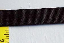 1 inch ( 25 mm ) Nylon Heavy Webbing Tape Strap  Black 10 yds  #618