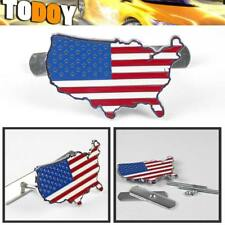 3D Metal US USA Flag Logo Car Auto Truck Front Hood Grille Grill Badge Emblem