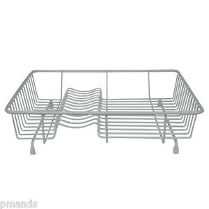 Delfinware Standard Dish Drainer White Plate Sink Rack New