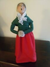 "Byers Choice 1984 ""Bumpy Base""Vintage Caroler - Woman w/Muff Very Good Condition"