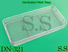 "STERILIZING TRAYS Micro Tray Drop Handle 21"" x 10"" x 4"" Mesh Box DN-321"