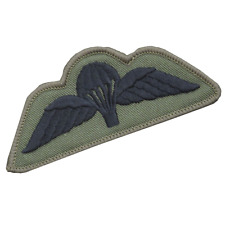 BRITISH AIRBORNE FORCES PARACHUTE WINGS PARA WINGS OLIVE BLACK SUBDUED