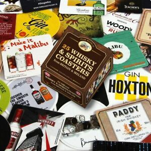 Whisky and Spirits Coasters/ Beer Mats Set of 25 (pwm)