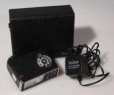 VIVITAR FLASH UNIT AUTO 281 W/ A/C CORD AND CASE, FOR PARTS