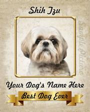Shih Tzu Dog Personalized Art Home Decor Printed on 8x10 Photo See Video Below