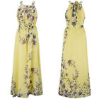 Fashion Womens Boho Chiffon Long Maxi Dress Summer Beach Party Floral Sundress