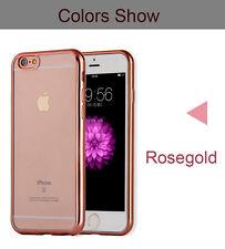 Funda flex-color para iphone 6 6s  y 6 6s plus  carcasa protector transparente