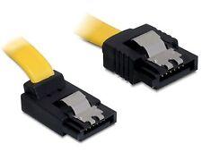 Delock Kabel SATA 30cm unten/gerade Metall - bis 3 Gb/s gelb 82474