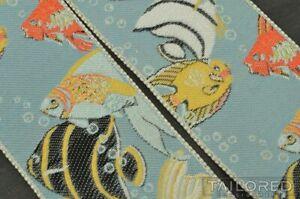 TRAFALGAR Limited Edition BLUE LAGOON Tropical Fish Silk Braces Suspenders RARE