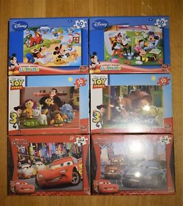 DISNEY MICKEY MOUSE PIXAR TOY STORY Or CARS 46 / 50 PIECE CHILDREN'S toy JIGSAW