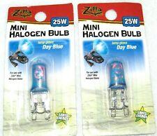 Brand New Zilla Mini Halogen Lamp Reptile Bulb 25-watt Glows Day Blue (2 Pack)