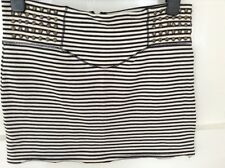 STUNNING LADIES BLACK STRIPE RIVER ISLAND SKIRT SIZE 12
