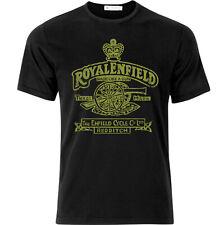 Royal Enfield Vintage Style Motorcycle T Shirt Black
