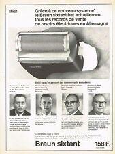 F- Publicité Advertising 1965 Le rasoir electrique Braun Sixtant