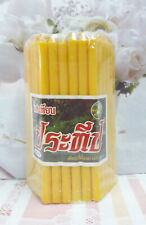 51 Sticks,1 Pack Yellow Candles Illuminated Bee wax Worship Buddha Size 13.5 cm