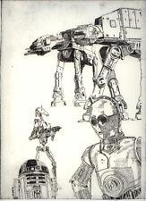 Star Wars en frío aguja aguafuerte drypoint aguafuerte etching papel de lino original