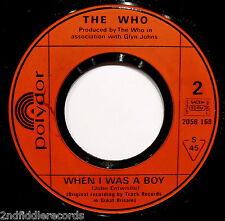 THE WHO-Let's See Action & When I Was A Boy UK IMPORT 45-POLYDOR-Pete Townshend