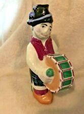 """Sargadelos Spain Porcelain Drummer Castro Decanter / Pot / Vase. 7"""" Tall Drum"""