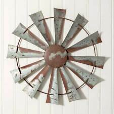 """Vintage Style 32"""" Windmill Wall Art Rustic Brown and Metal Farmhouse Shabby Chic"""