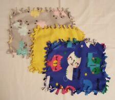 Handmade Set of 3 Doll Blankets