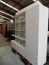 OFFICE DISPLAY SHELVING & STORAGE UNIT WITH DRAWERS & CUPBOARD BRISBANE
