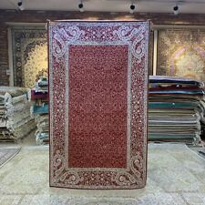 Yilong 3'x5' Red All Over Bedroom Hand Knotted Silk Rug Home decor Carpet 228B