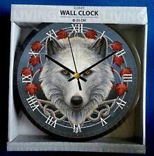 Wolf's Head Wall Clock