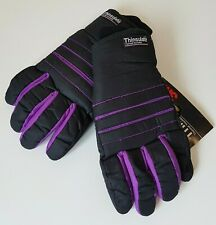 Thinsulate Men's Size XL Gloves Black & Purple 3M Thermal Insulation NEW