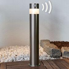 LED-Sockelleuchte Kalypso Solar 50 cm LED Edelstahl Rund Solarlampe Sensor Außen