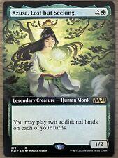 Azusa, Lost but Seeking Extended Art Core Set 2021 MTG NM Magic The Gathering