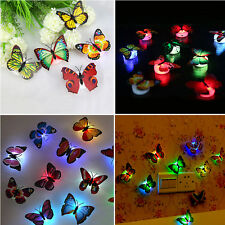 Fashion 7 Color Changing Cute Butterfly LED Night Light Home Room Desk Wall Deco