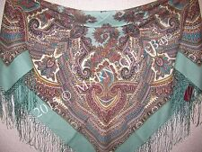 "Elite Wrap PAVLOVO POSAD Scarf 148cm/ 58"" Russian Pure Woolen shawl Magic design"