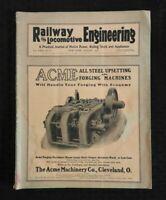 "1918 'RAILWAY & LOCOMOTIVE ENGINEERING"" RAILROAD TRAIN HISTORY MAGAZINE RARE"