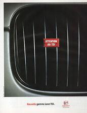 Publicité Advertising 2001  SEAT Nouvelle gamme Leon TDI
