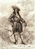 Portrait XIXe Henri de La Tour d'Auvergne Vicomte de Turenne Sedan 1858