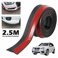 2.5 m gomma Splitter labbro gonna Protector Universal Car Sottoparaurti durable