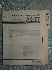 Yamaha ax-77 service manual original repair book stereo amp amplifier