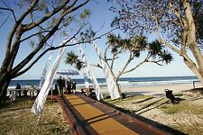 2 x White 5 Metre Bali Flags Umbul Umbul Wedding Ceremonies