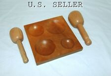 Large Dapping Set, 4 Groove Block And 2 Large Dapping Mallets