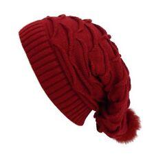 Bonnets rouge en acrylique pour femme