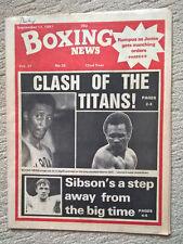 September Boxing Sports Magazines