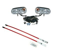 Dual Beam HALOGEN HEADLAMP LIGHT KIT w/ BLADE MARKERS Snowplows Snowblades