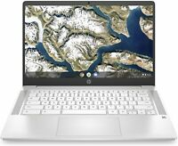"New HP Chromebook 14"" Celeron N4000 4GB RAM 32GB SSD 14a-na0020nr Ceramic White"