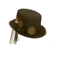 NEW Deluxe Steampunk Hat With Goggles -  Si-Fi Fancy Dress Halloween Accessory
