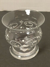 Partylite Small Vase Candle Holder Votive Tea Light Painted Glass Romania