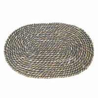 Set of 4 Large 45cm Oval Placemats Dining Table Place Settings Mats Woven Fabric