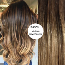 Pre Bonded Nail U Tip Hair extensions 1G 100% Remy, Ombre #4/24